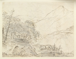 Mountain landscape, Garhwal (U.P.). April 1789